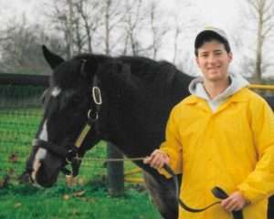 George with Danzig at Claiborne Farm in 2004